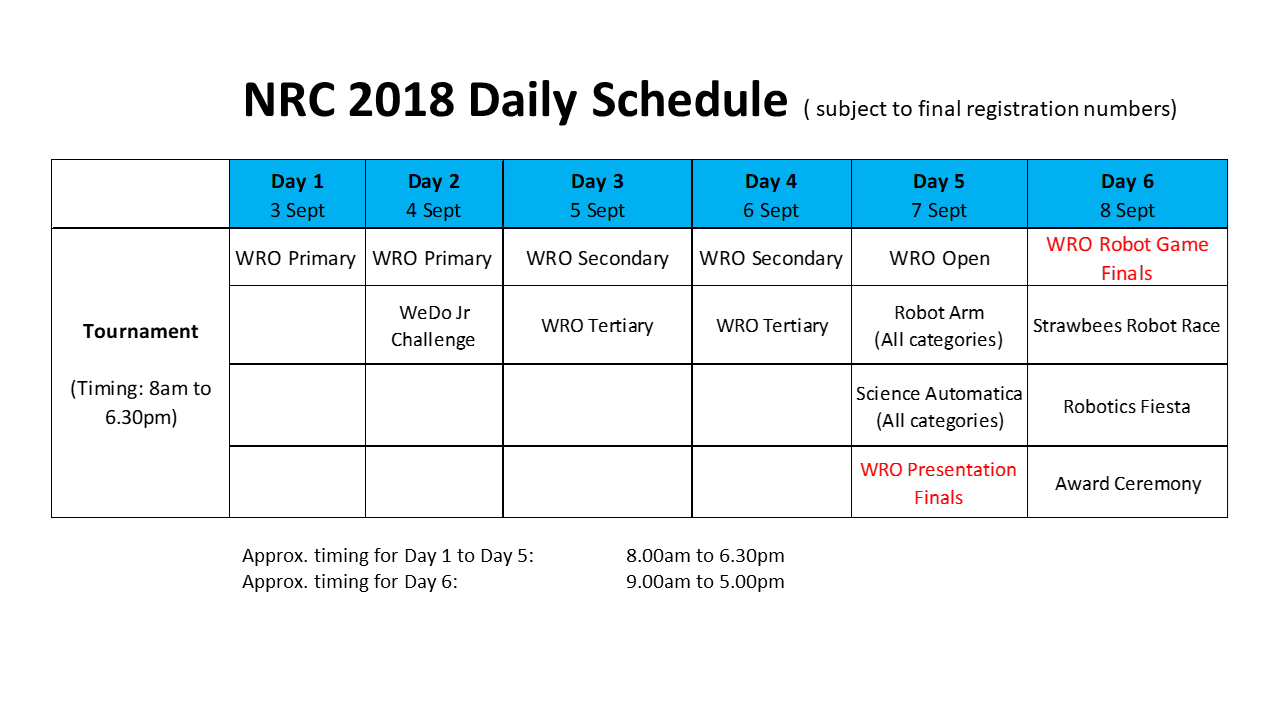 NRC 2018 Daily Schedule_7Aug